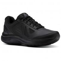 Reebok Walk Walking Shoes Mens Black/Alloy (970UREJK)