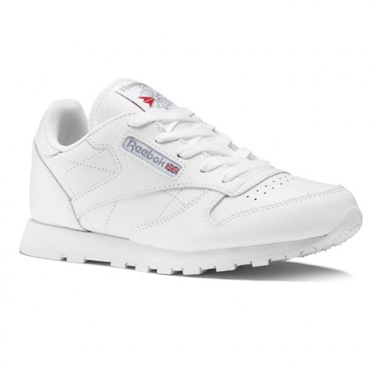 Reebok Classic Leather Shoes Kids White (971BWRAP)