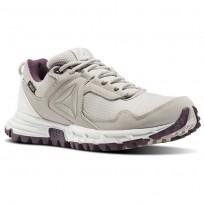 Reebok Sawcut Walking Shoes Womens Beige/Blue/Sandstone/Chalk/Washed Plum (973YQPBT)