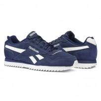 Reebok Royal Glide Shoes Mens Collegiate Navy/White (974QKFZD)