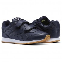 Reebok Royal Classic Jogger Shoes Kids Collegiate Navy-Gum (977LSYGB)
