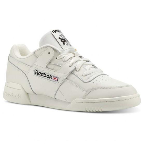 Reebok Workout Plus Shoes Mens Vintage-Chalk/Black (978NTFYB)