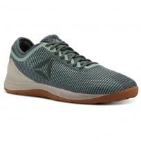 Reebok CrossFit Nano Shoes Mens Industrial Green/Chalk Green/Parchment/Gum (980TVNMB)