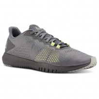Reebok Flexagon Training Shoes Mens Shark/Skull Grey/Lemon Zest (981BSLKU)