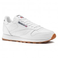 Chaussure Reebok Classic Leather Homme Blanche (982QGKMH)