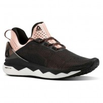 Reebok Floatride Run Smooth Running Shoes Womens Strch-Black/Digital Pink/Wht (983PFXIY)