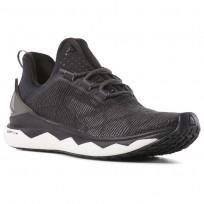 Reebok Floatride Run Smooth Running Shoes Womens Strch-Black/White/Tin Grey (984FIADS)