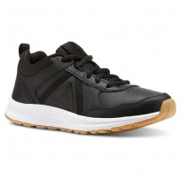 Reebok ALMOTIO 4.0 Running Shoes Boys Black/White/Gum Rubber (994RLZFS)