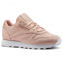 Chaussure Reebok Classic Leather Femme Rose/Blanche (995QYGXU)