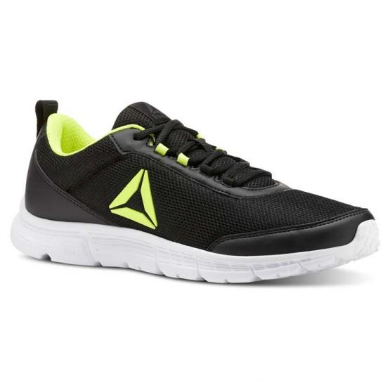 Reebok Speedlux 3.0 Running Shoes Mens We-Black/Solar Yellow (996ZNWCI)