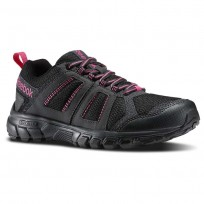 Reebok DMX Ride Comfort RS 3.0 Outdoor Shoes Womens Black/Gravel/Graphite/Pink (997QTYJG)
