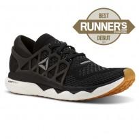 Reebok Custom Floatride Run Running Shoes Womens Black/Gravel/White/Gum (998BSDOH)